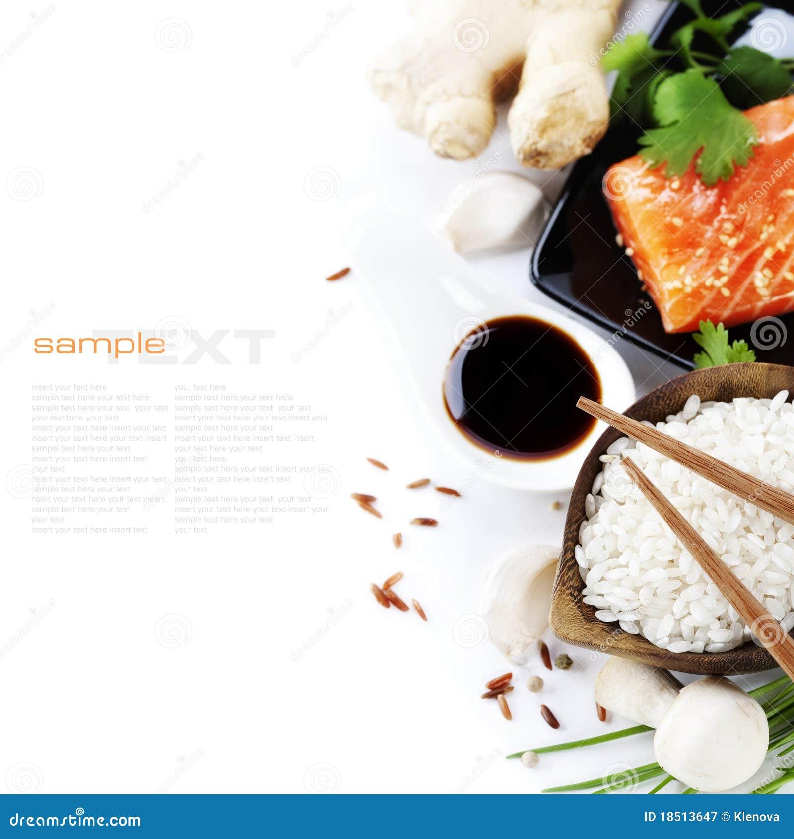 Tradycyjni azjatykci składniki