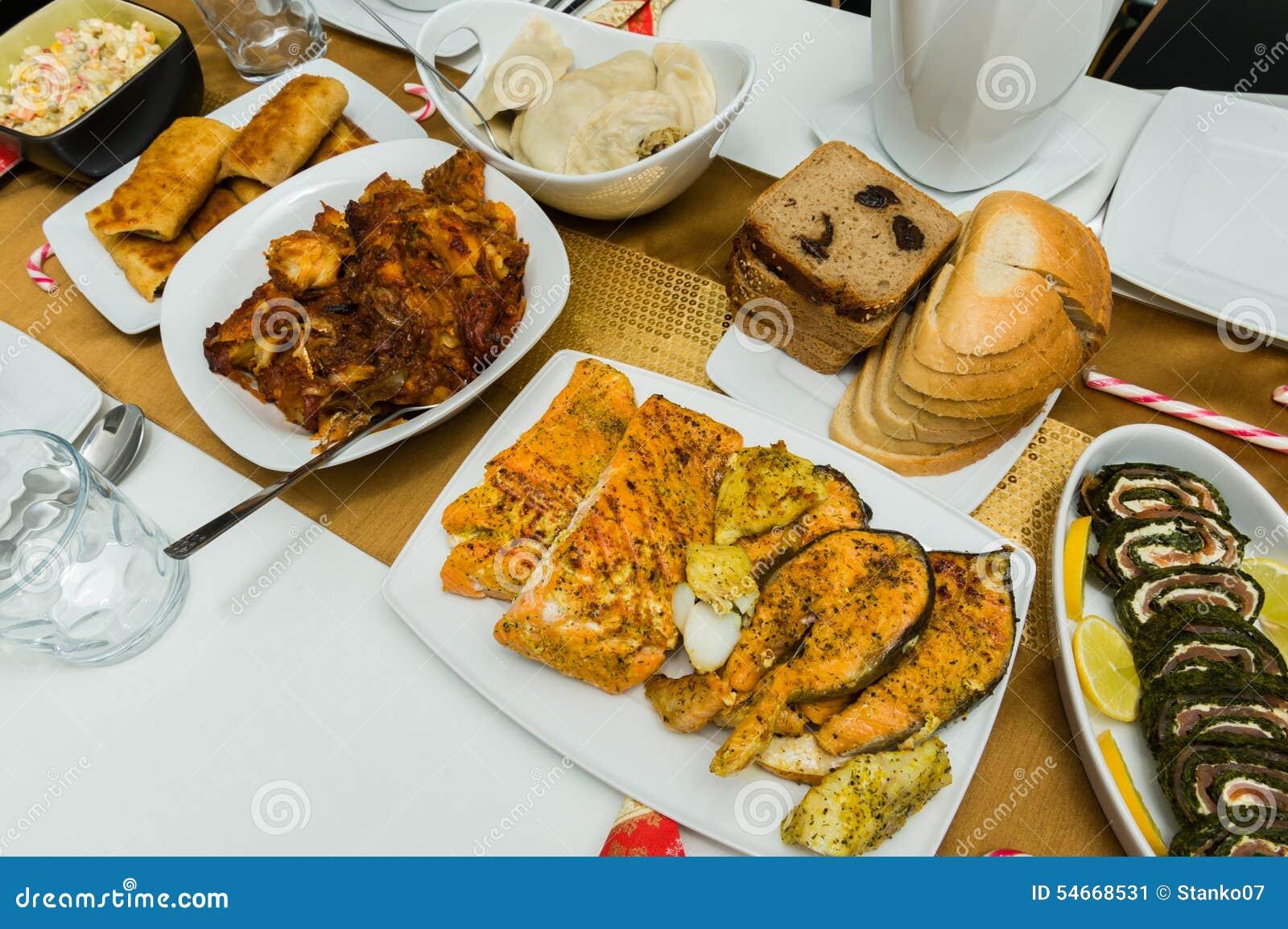 Tradycyjny domowy robić Bożenarodzeniowy jedzenie