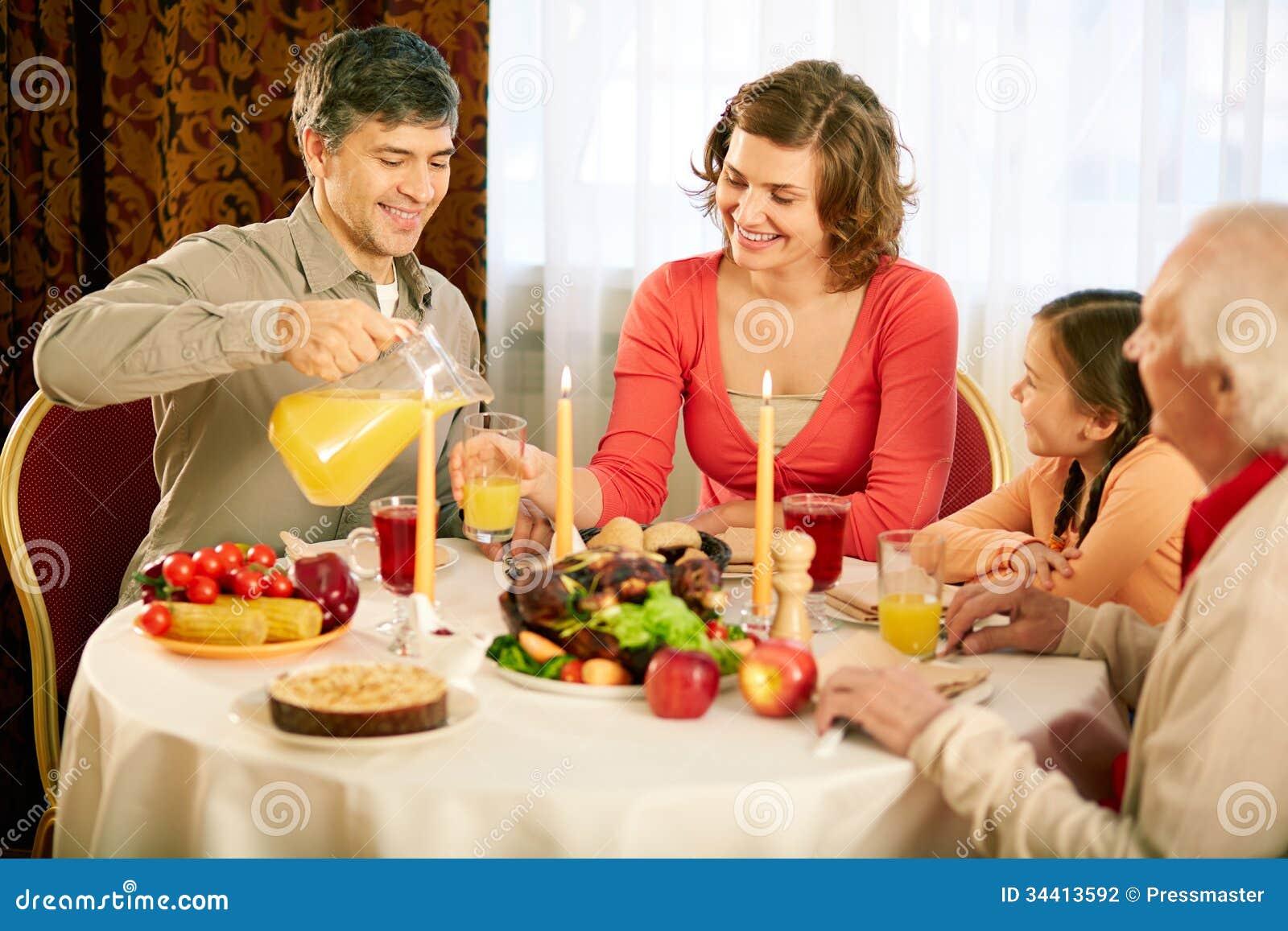 Tradycyjny dziękczynienie gość restauracji