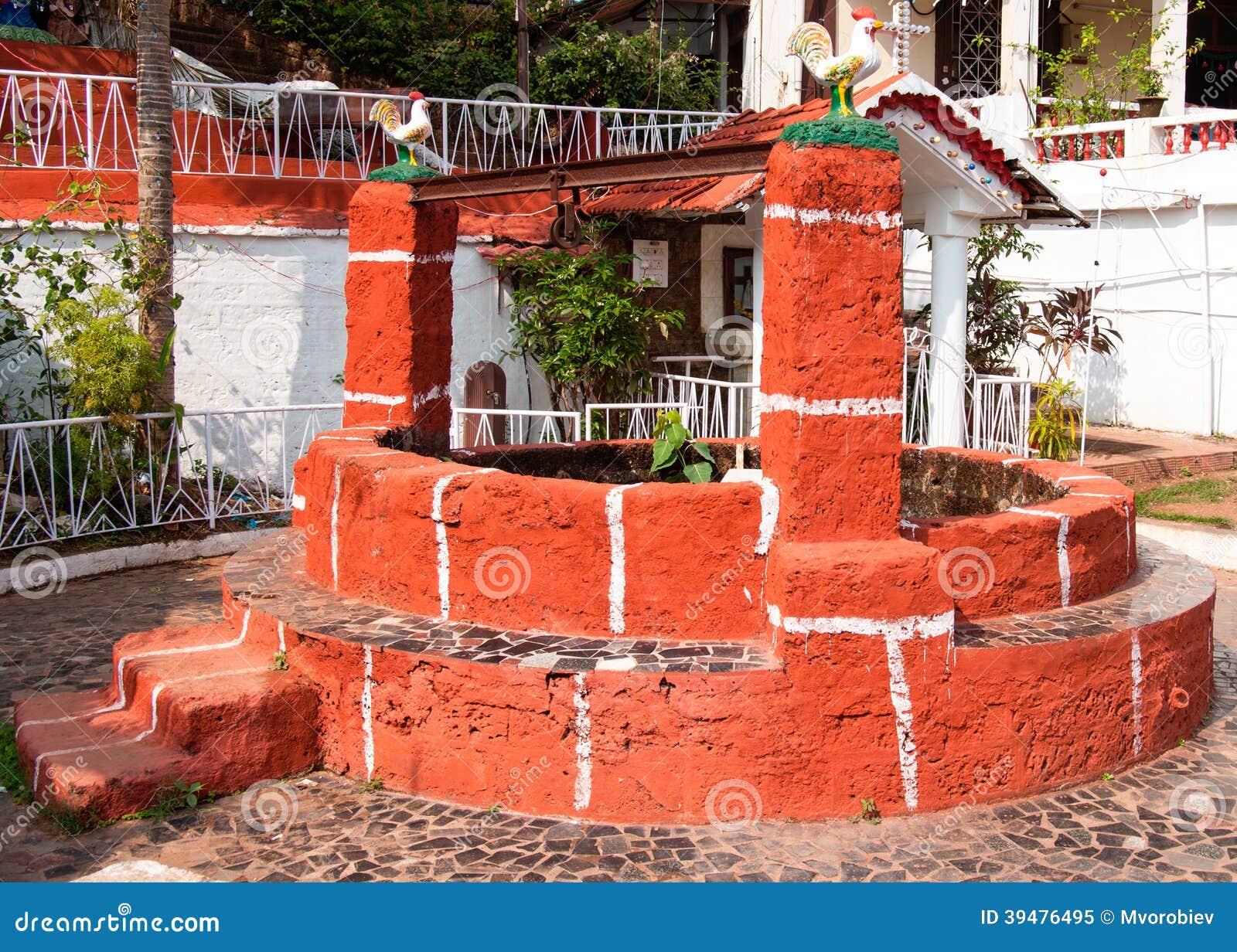 Tradycyjny stary dobrze, Goa, India