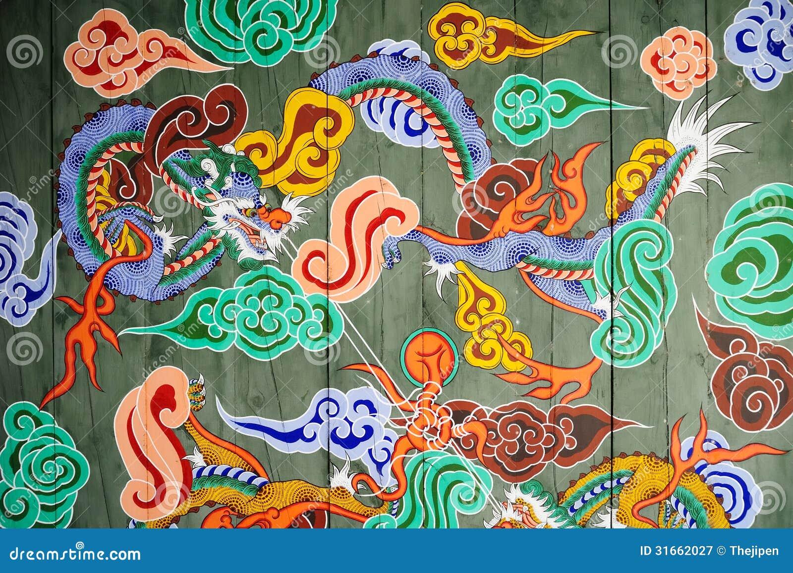 Tradycyjny wzór koreańczyka kasztelu brama