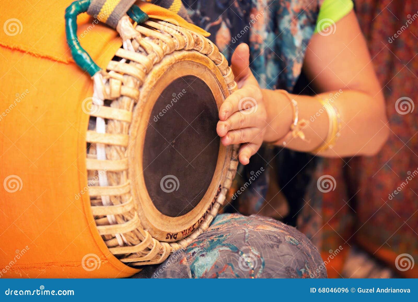 Tradycyjnych Indiańskich tabla bębenów zamknięty up