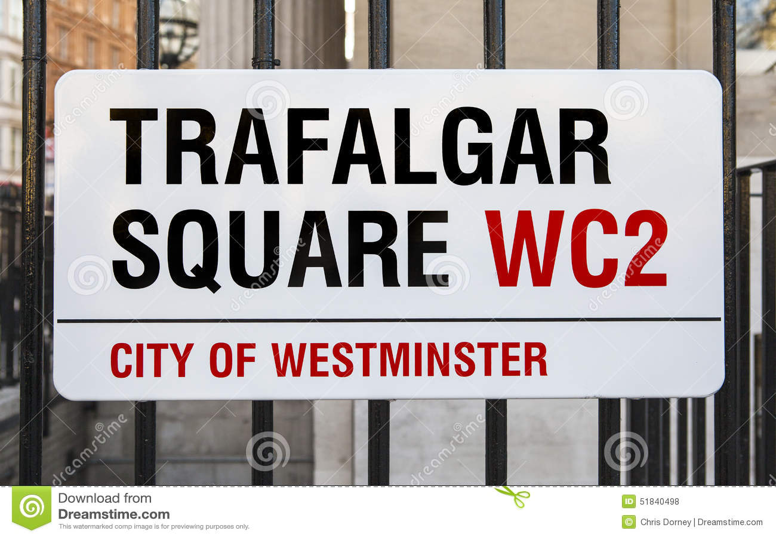 Trafalgar Square firma adentro Londres