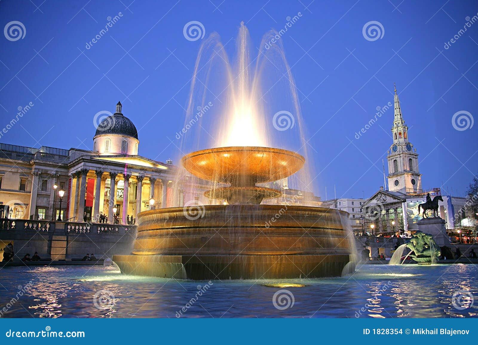 Trafalgar Square at Night 1