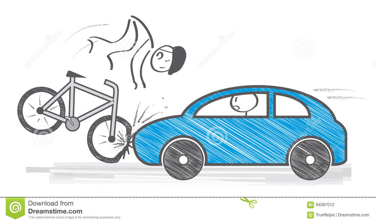 Traffic Accident Illustration Stock Illustration - Illustration of ...