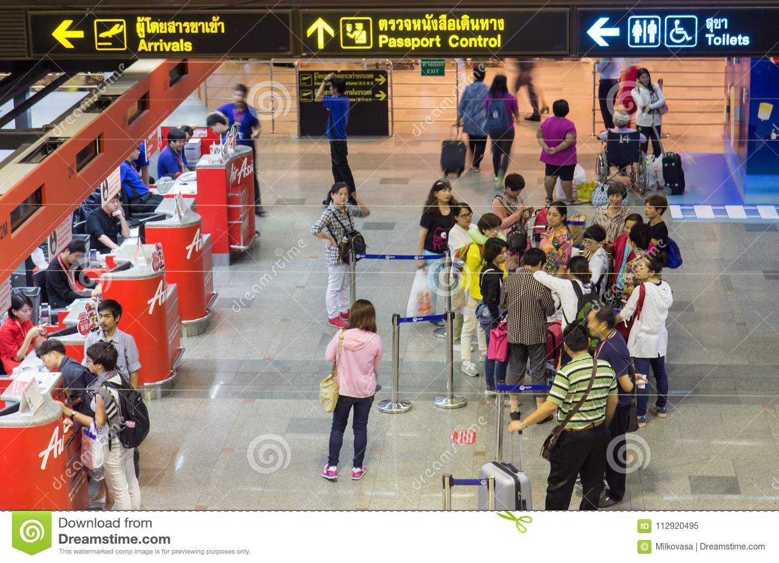 Traffic at the airport Don Muang
