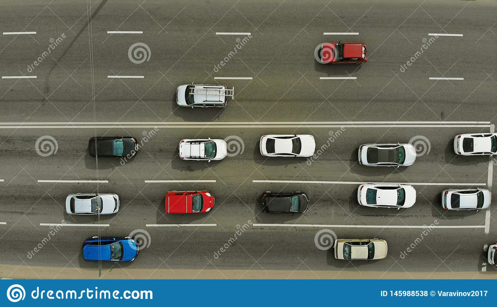 Traffic On A City Street Top View Aerial Stock Photo Image Of Crossroad Drone 145988538
