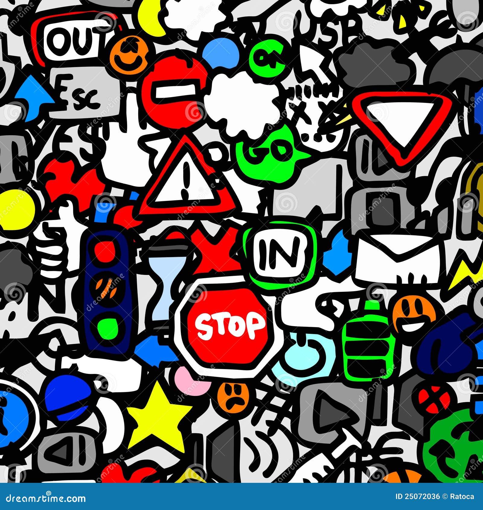 Traffic Color Wallpaper Stock Vector. Illustration Of