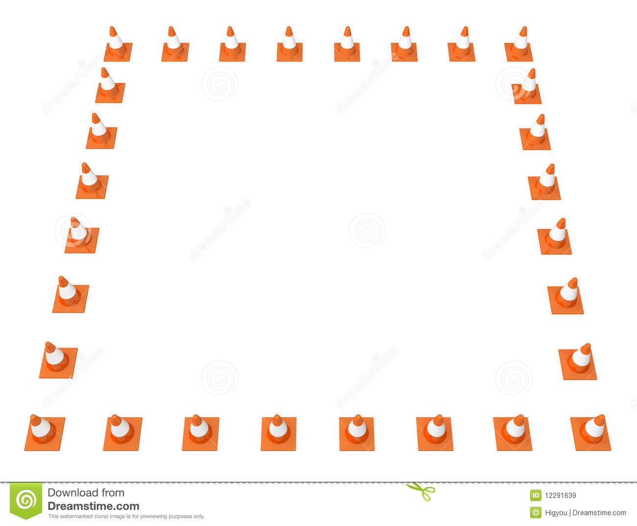 Traffic Cone Frame Royalty Free Stock Images Image 12291639