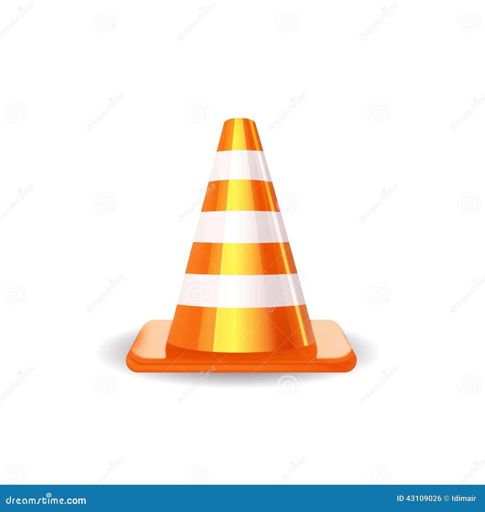 Traffic Cone. Vector Illustration Stock Vector - Image ... Traffic Cone On Road