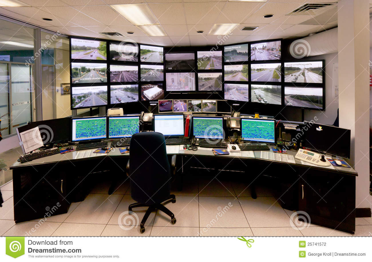 The main traffic control command center in Ottawa, ontario,canada with ...