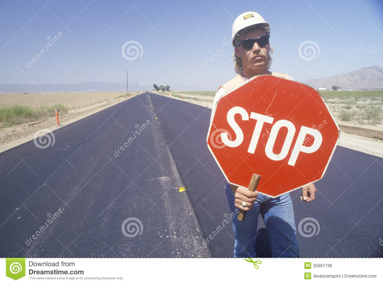 Traffic Control On A Highway, Editorial Photo - Image of