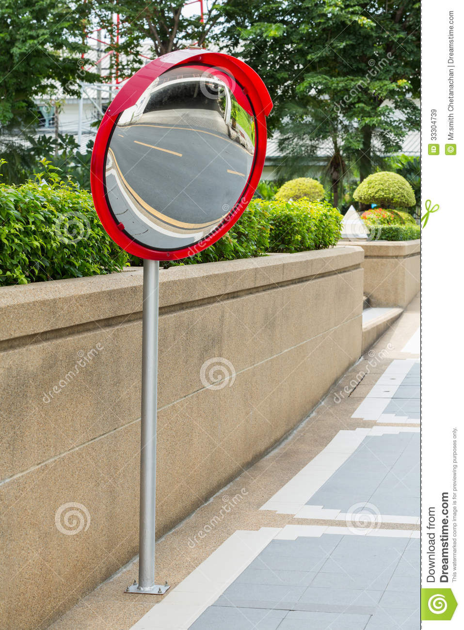 Traffic Convex Mirror Stock Image Image Of Across