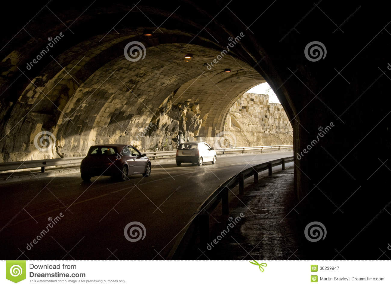 Tunnel Traffic Royalty Free Stock Photography - Image ...  Tunnel Traffic ...