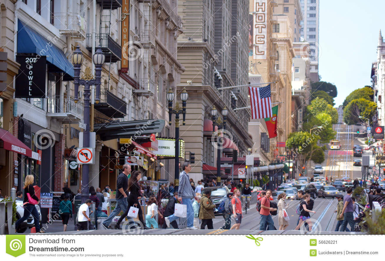 San Francisco May 15 2015traffic In San Francisco It Has A Density Of About 18187 People Per Square Mile 7022 People Per Km2 Making It The Most