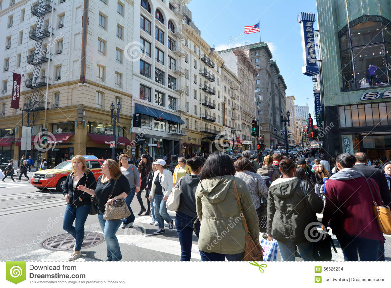 San Francisco May 17 2015traffic In San Francisco It Has A Density Of About 18187 People Per Square Mile 7022 People Per Km2 Making It 2nd Most