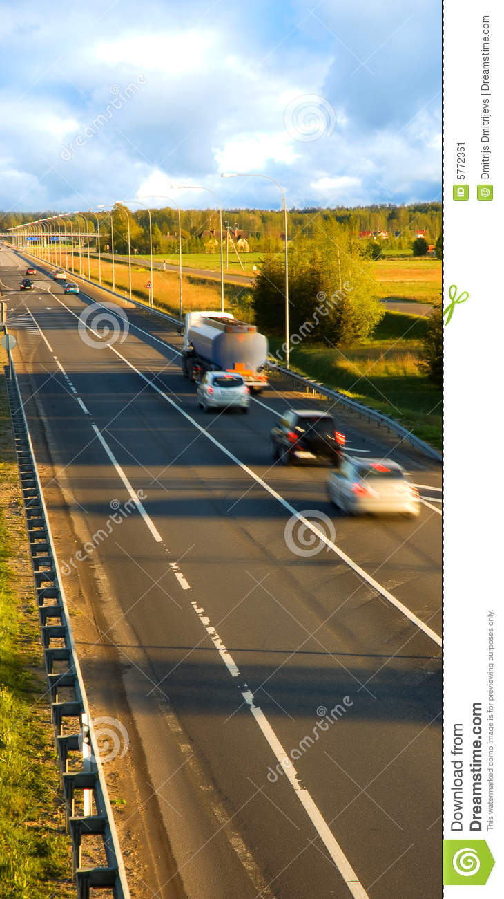 Traffic on the highway (motion blur)