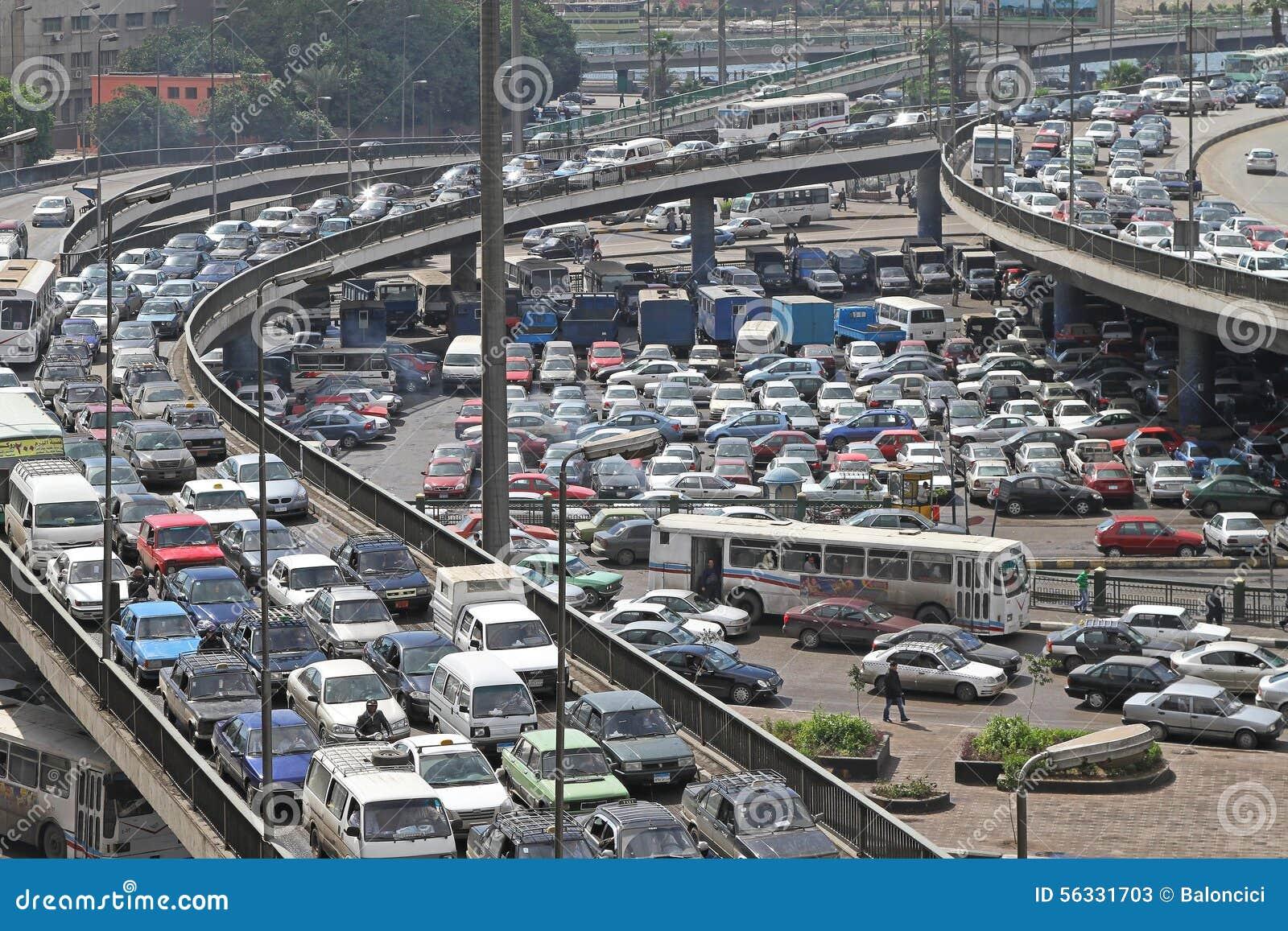 Traffic Jam Cairo Editorial Stock Photo - Image: 56331703