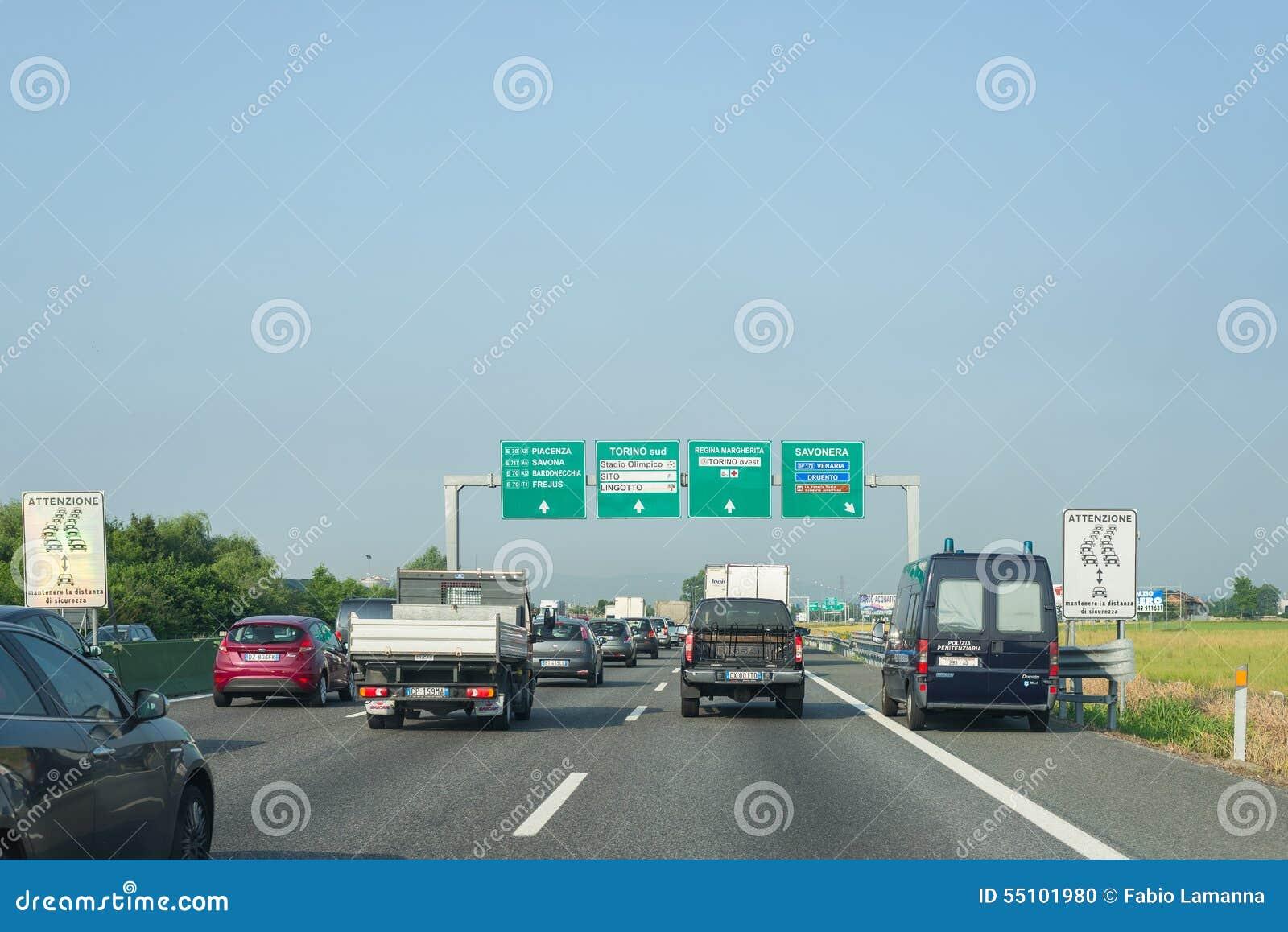 Traffic jam on italian highway