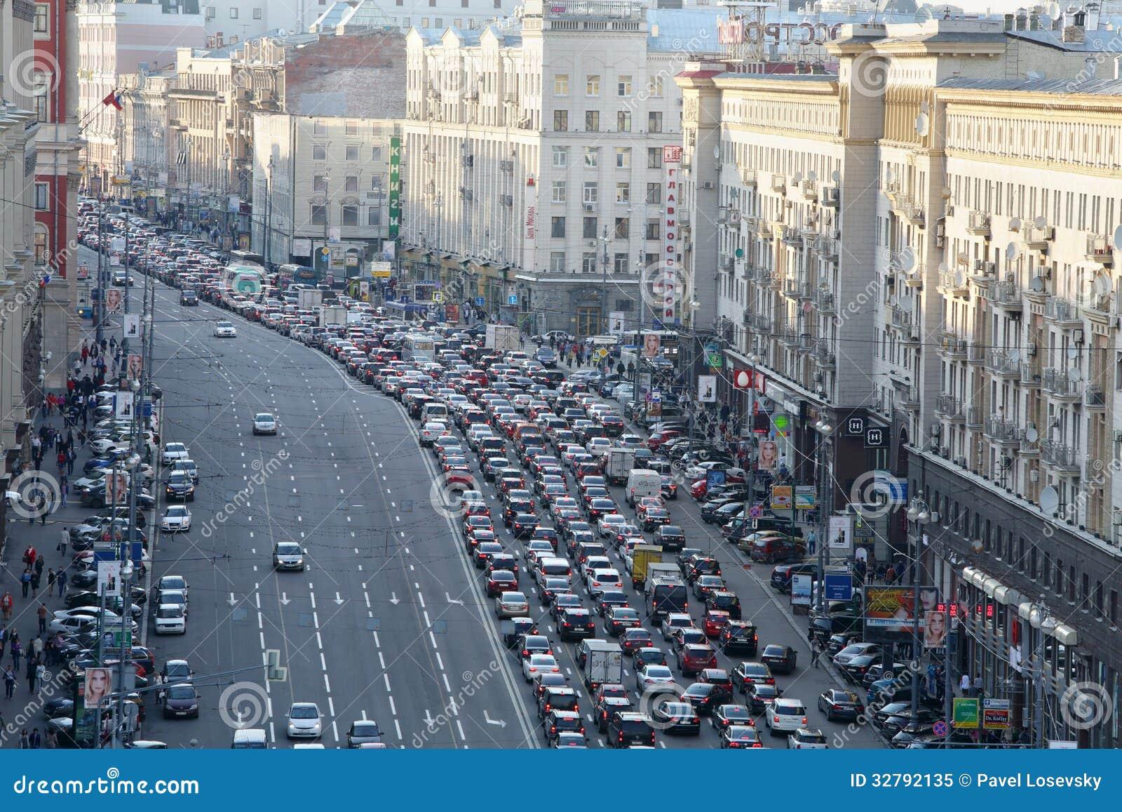 Rush Truck Center >> Traffic Jam On Tverskaya St. Editorial Image - Image of ...