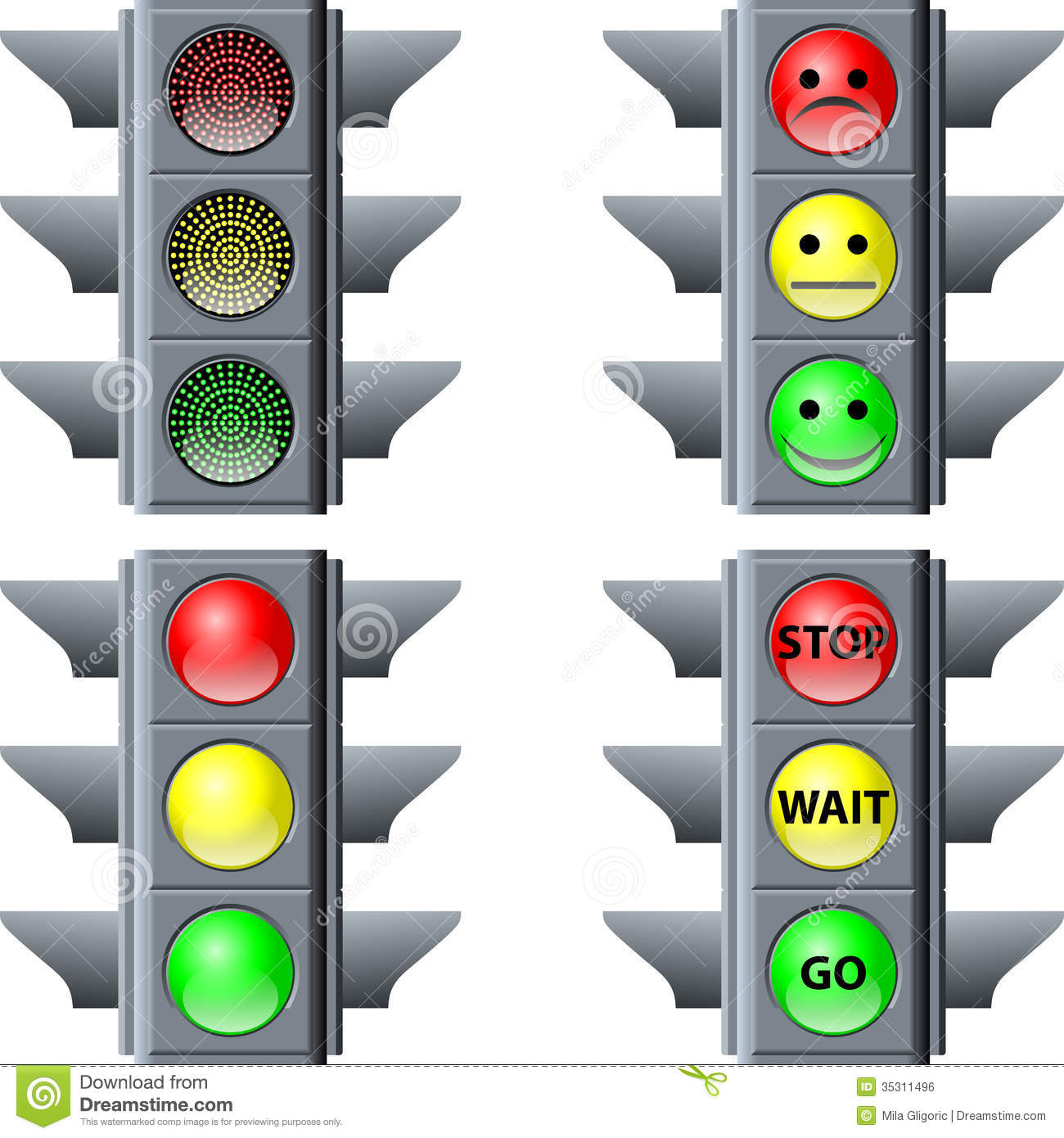 Traffic Light Royalty Free Stock Image Image 35311496