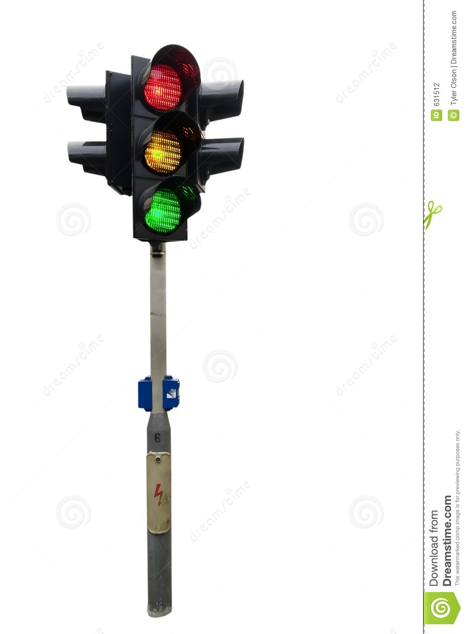 Traffic Light Post for Real Traffic Lights  111bof