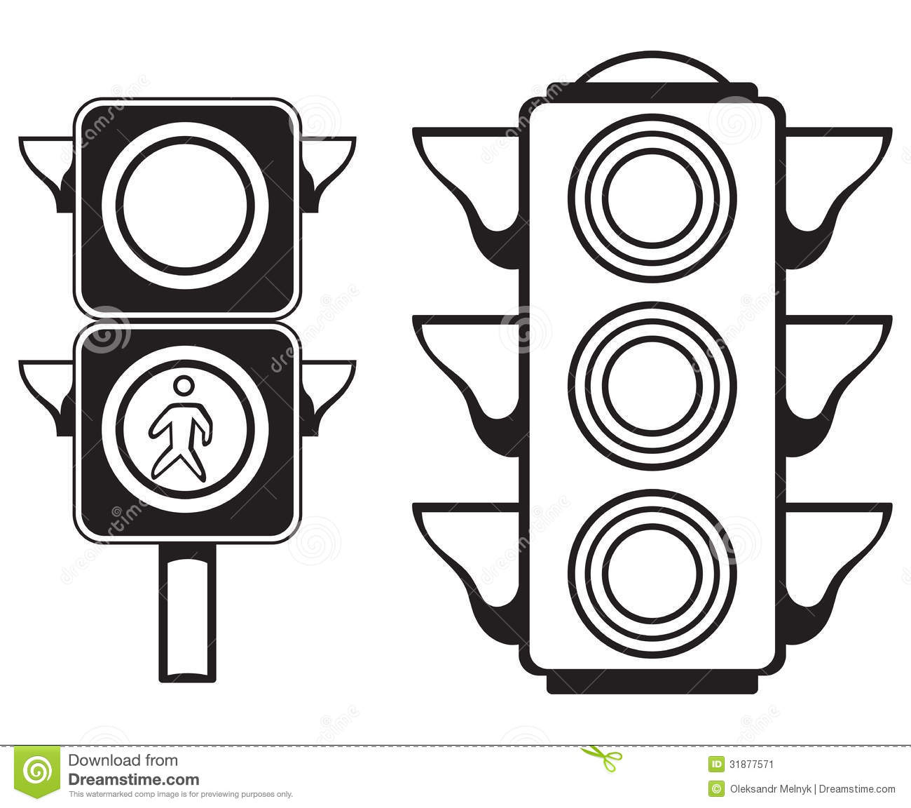 traffic light stock vector  illustration of black  artistic