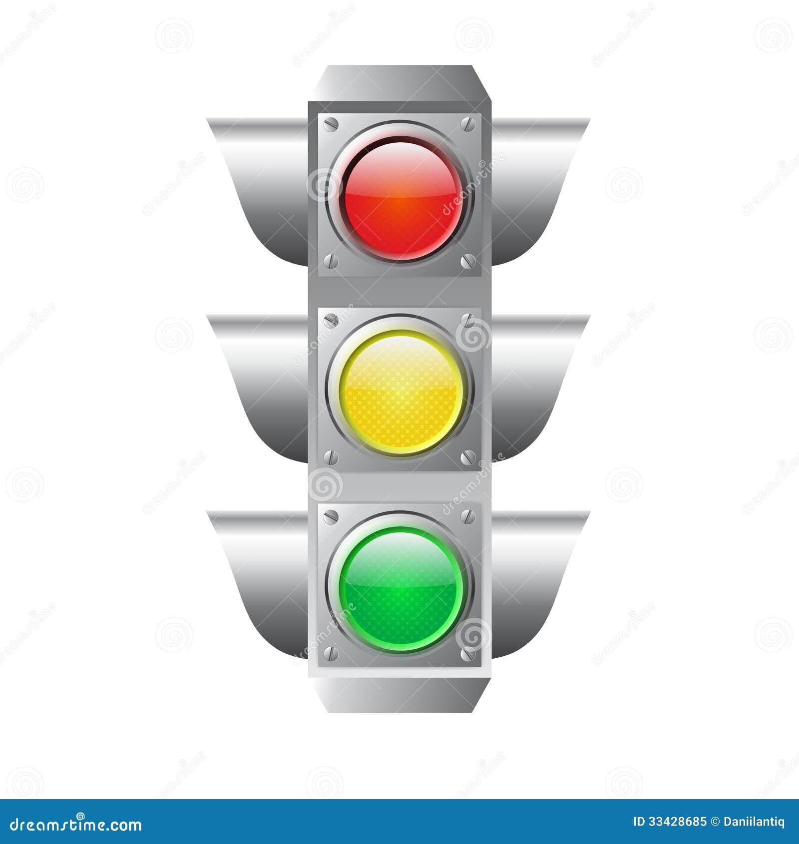 Traffic Light Isolated...