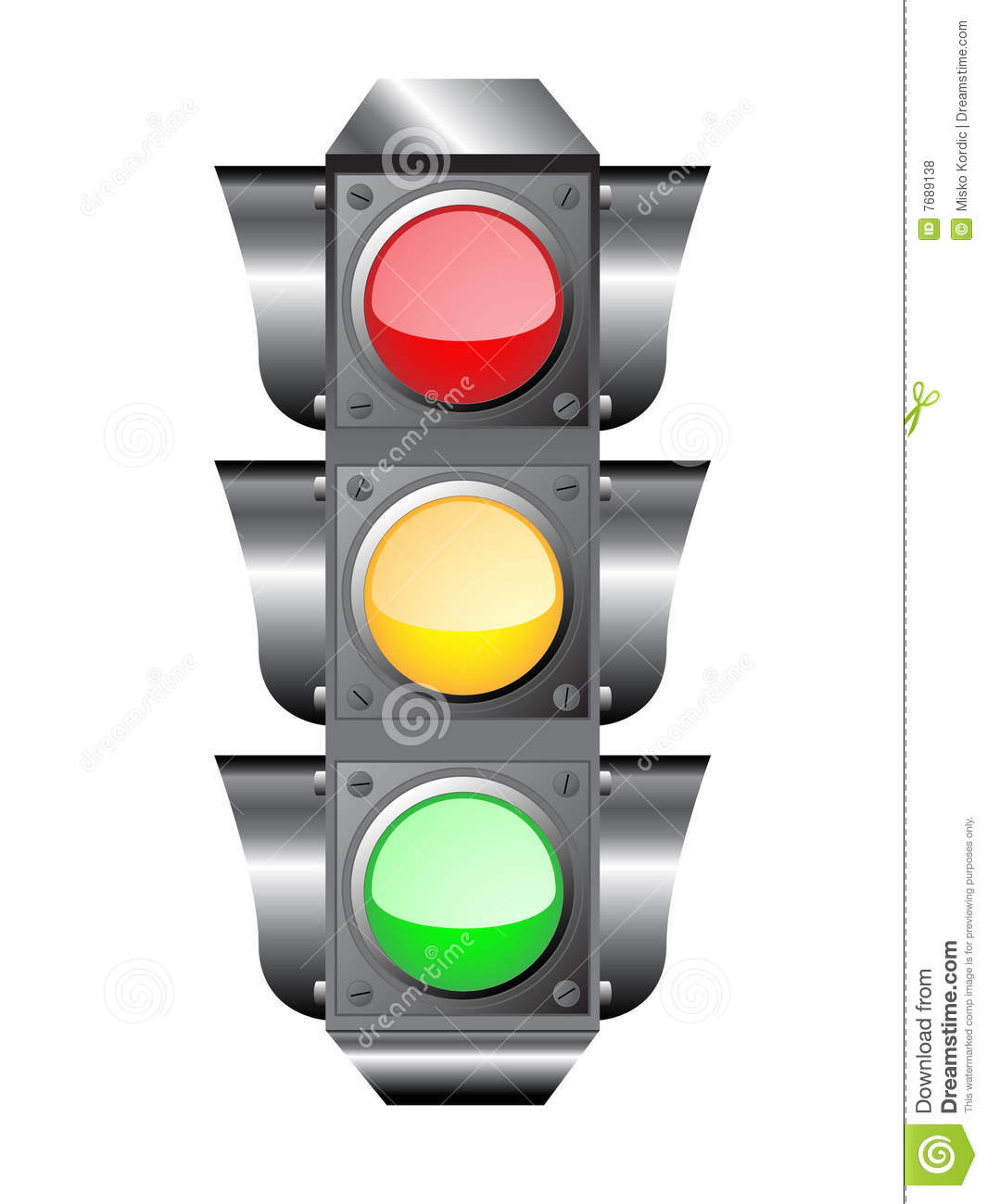 Traffic Light Or Semaphore Royalty Free Stock Photos