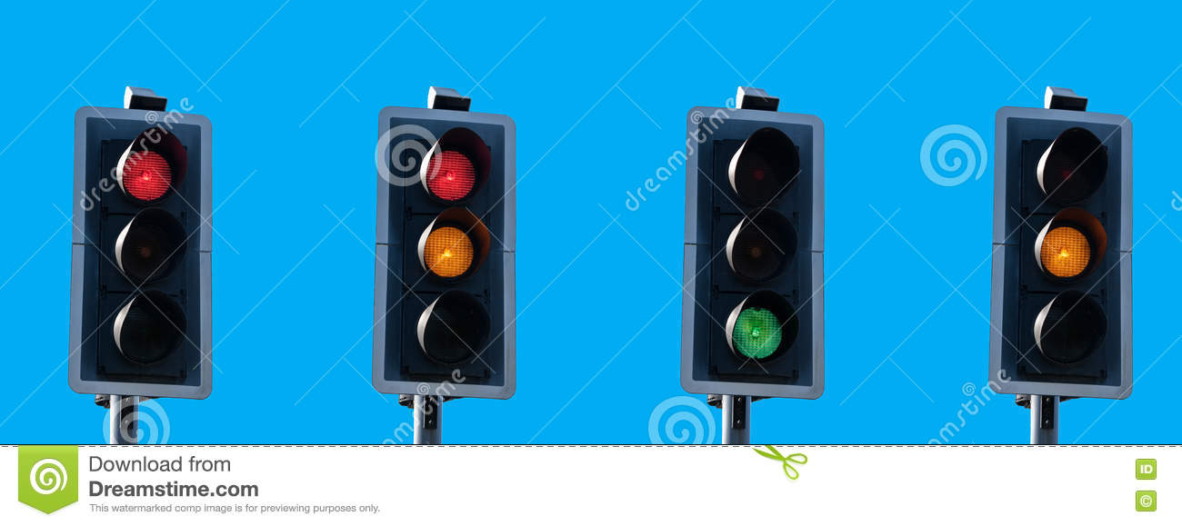 Traffic Light Sequence Stock Image Image Of Light Lights