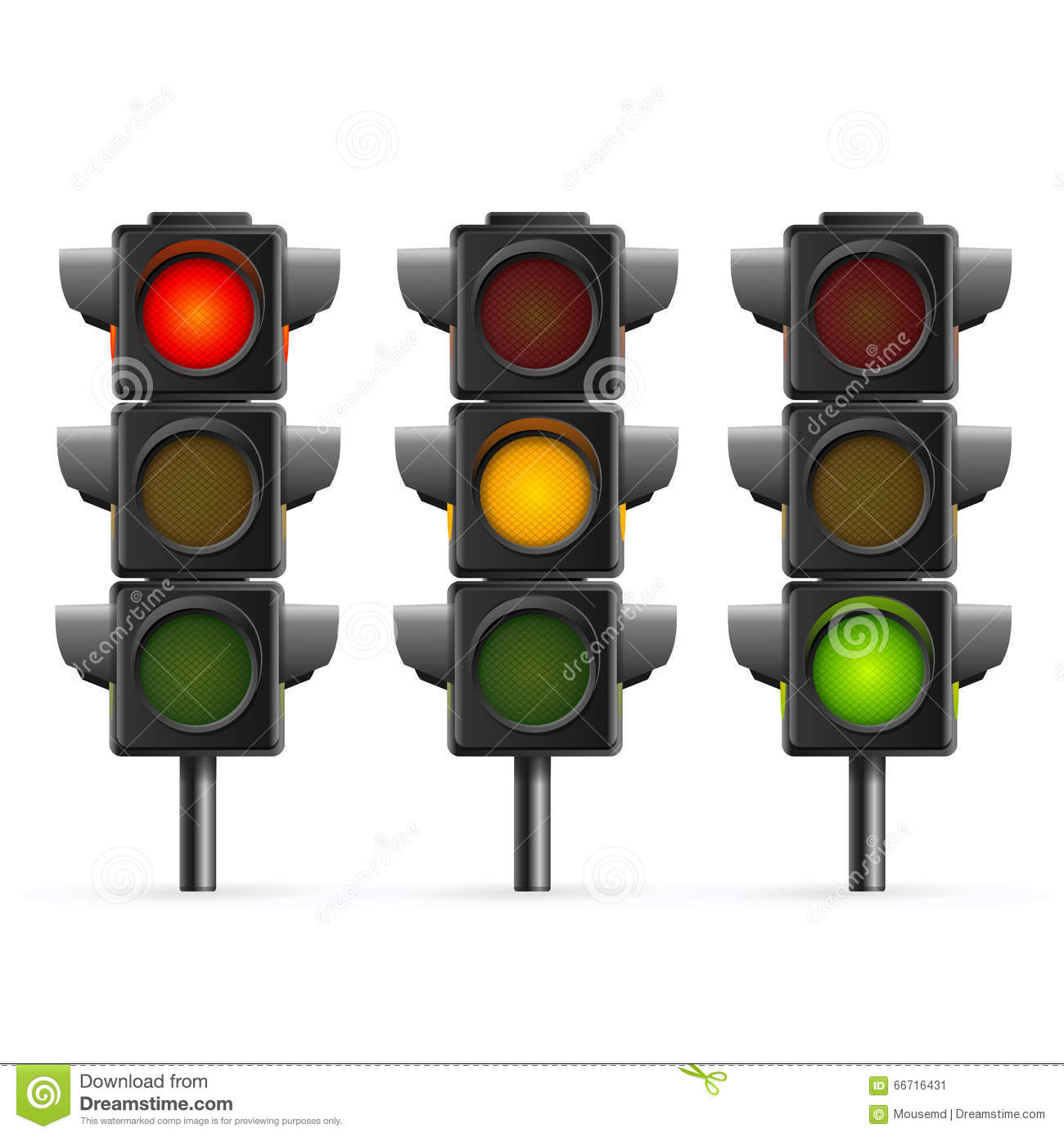 Light Sequence Controller: Traffic Light Sequence. Vector Stock Vector