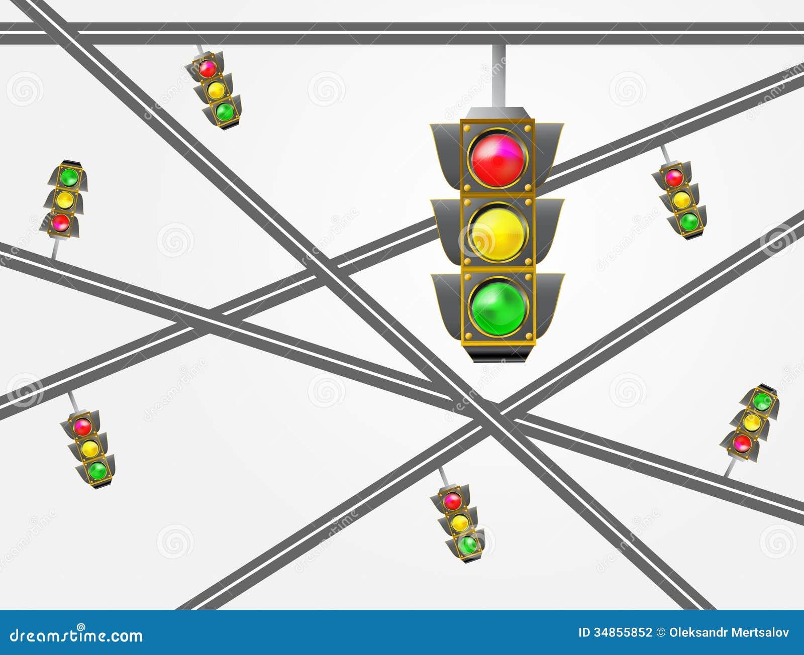 Traffic Light Stock Illustration Illustration Of Objects 34855852