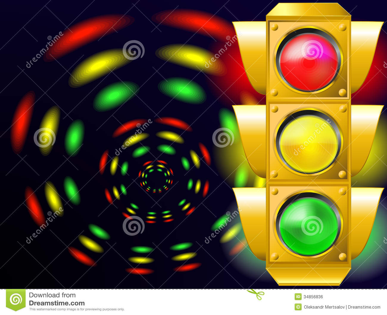 Traffic Light Stock Illustration Illustration Of Order 34856836