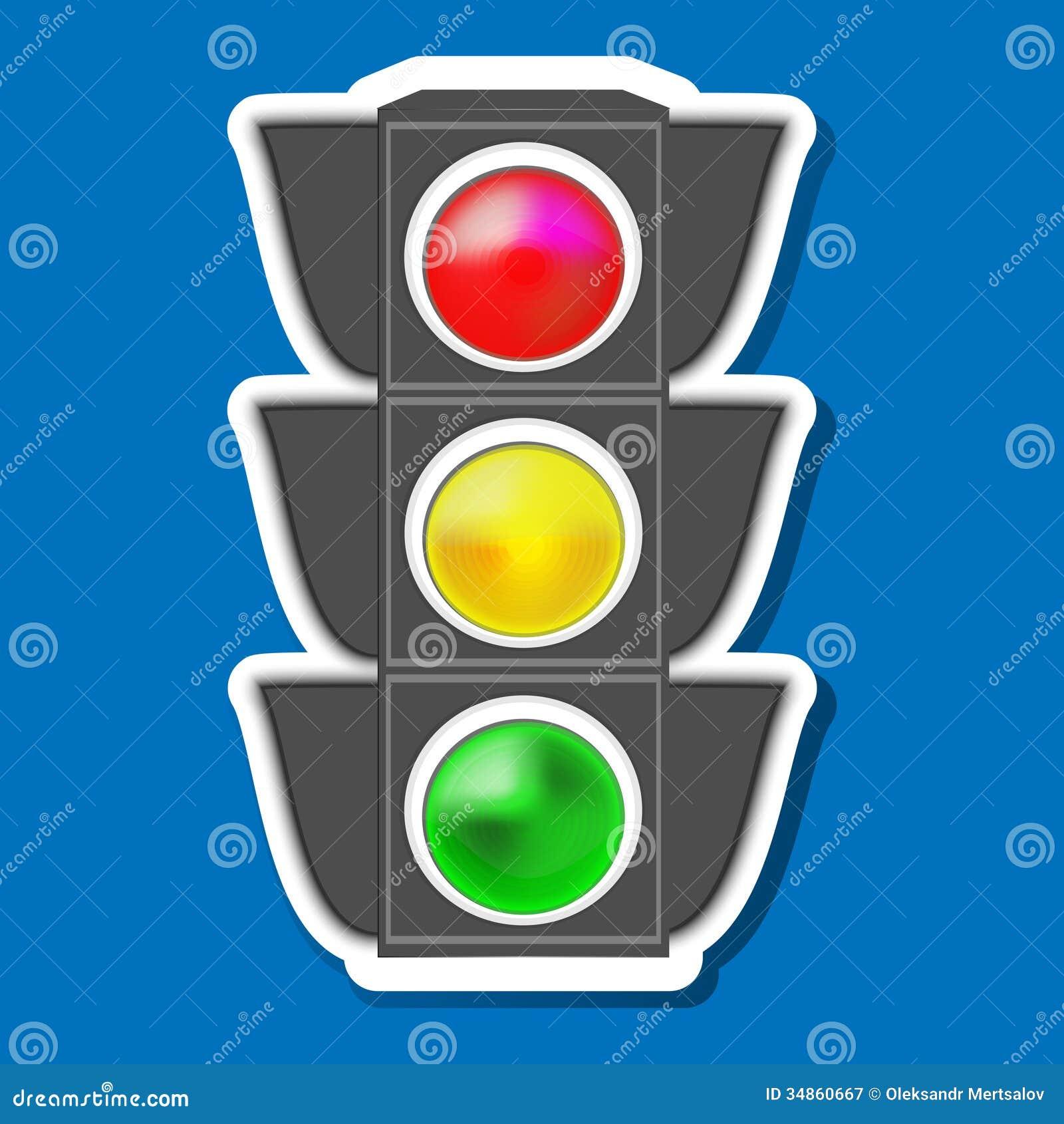 Traffic Light Stock Illustration Illustration Of Icon 34860667