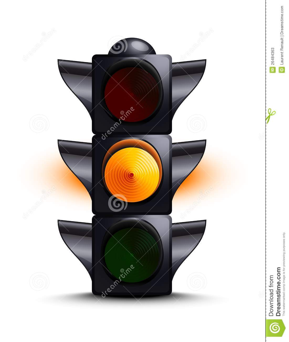 Traffic light on yellow stock vector. Illustration of regulate ... for Traffic Light Yellow Icon  186ref