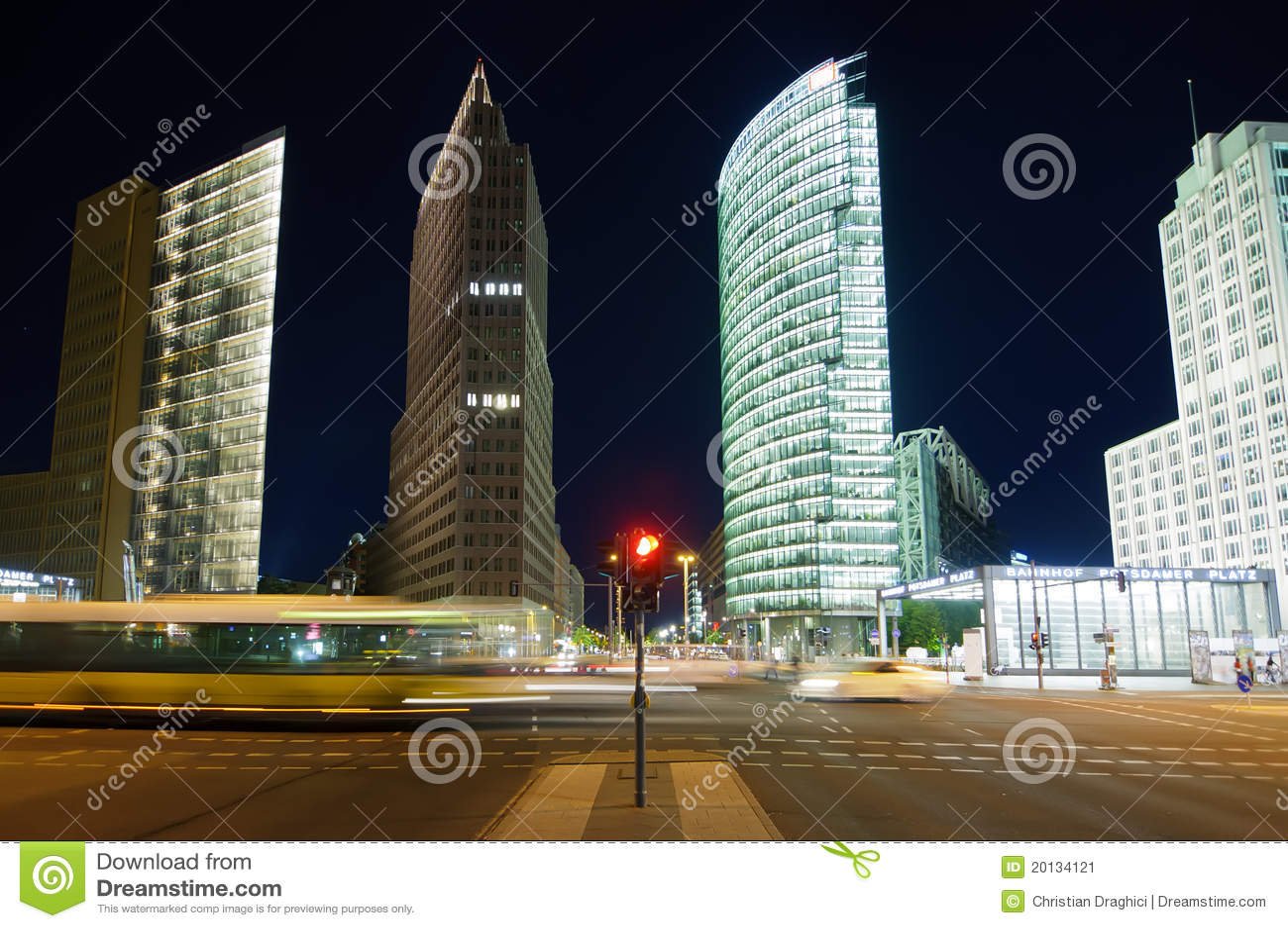 Traffic potsdamer platz, berlin