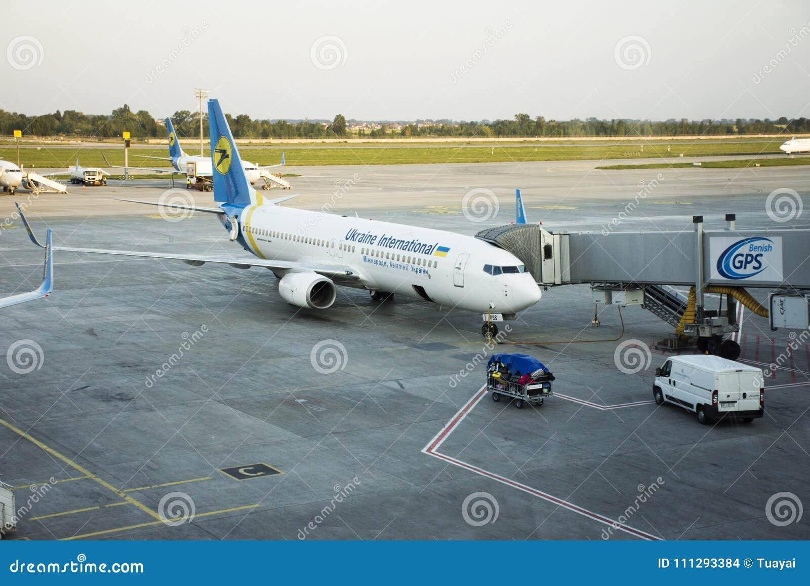 Aeroporto Kiev : Runway of kiev boryspil international airport at kiev ukraine