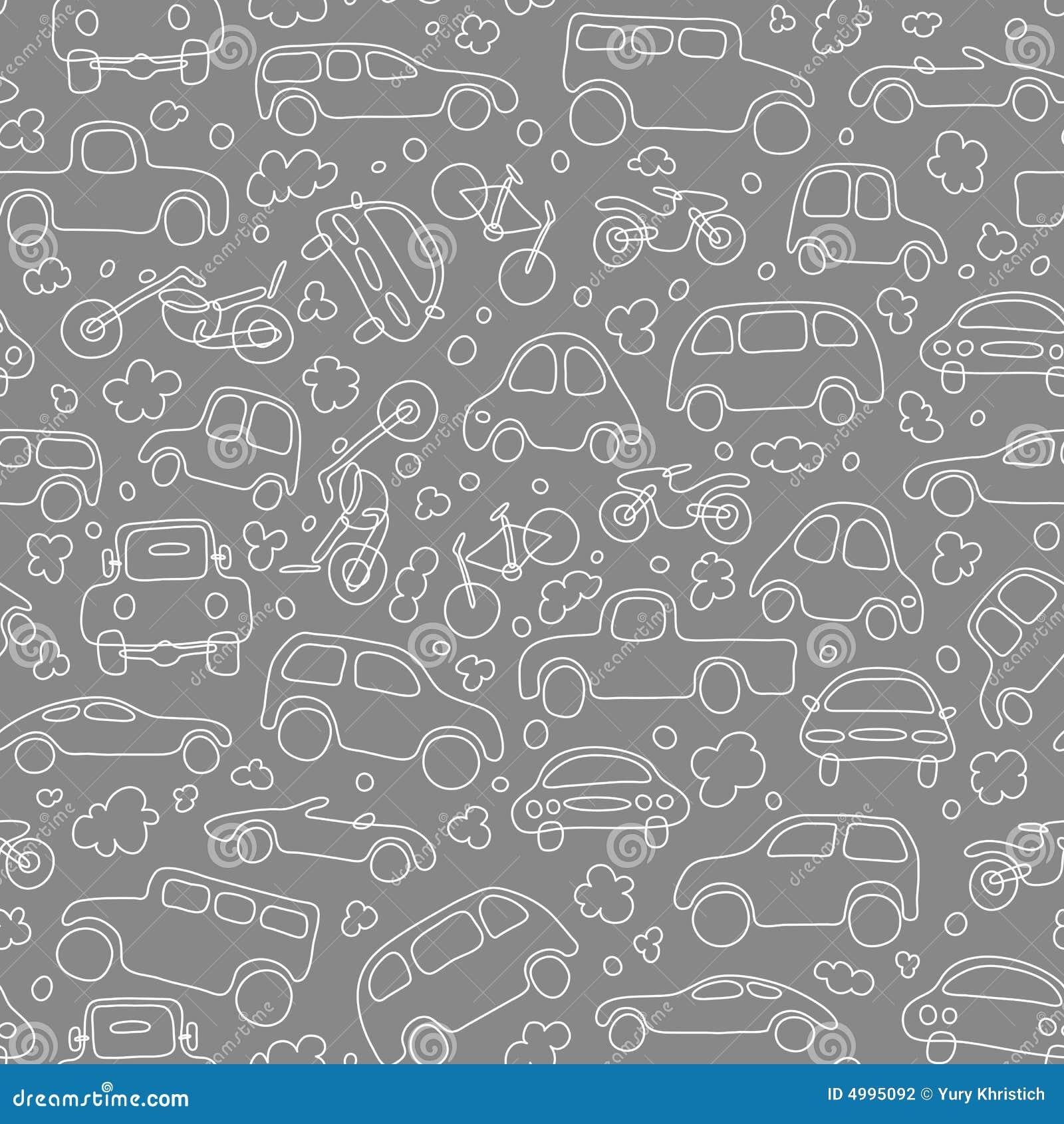 Traffic (seamless vector wallpaper)
