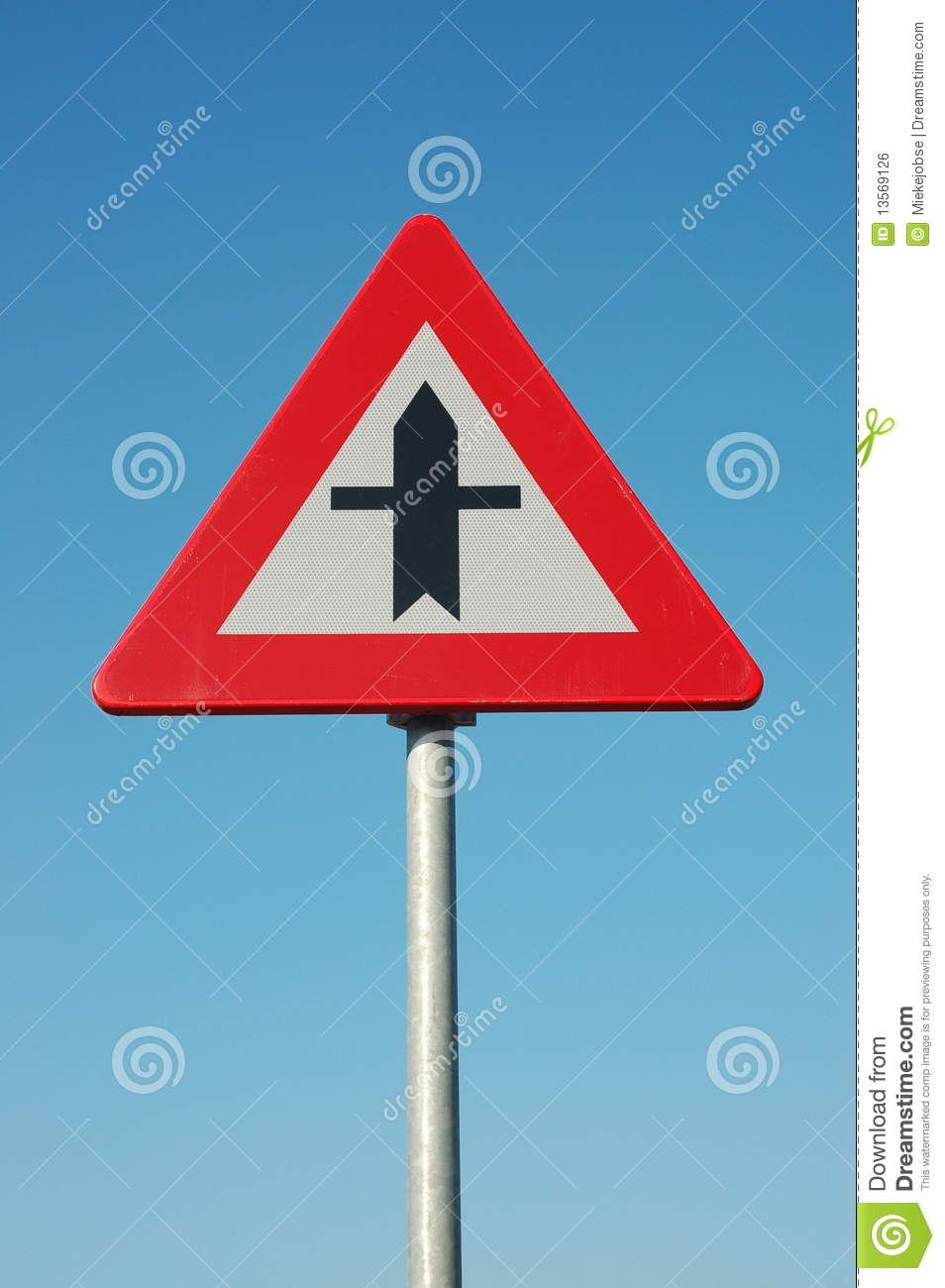 Time Road Id Roblox: Traffic Sign; Priority Royalty Free Stock Image
