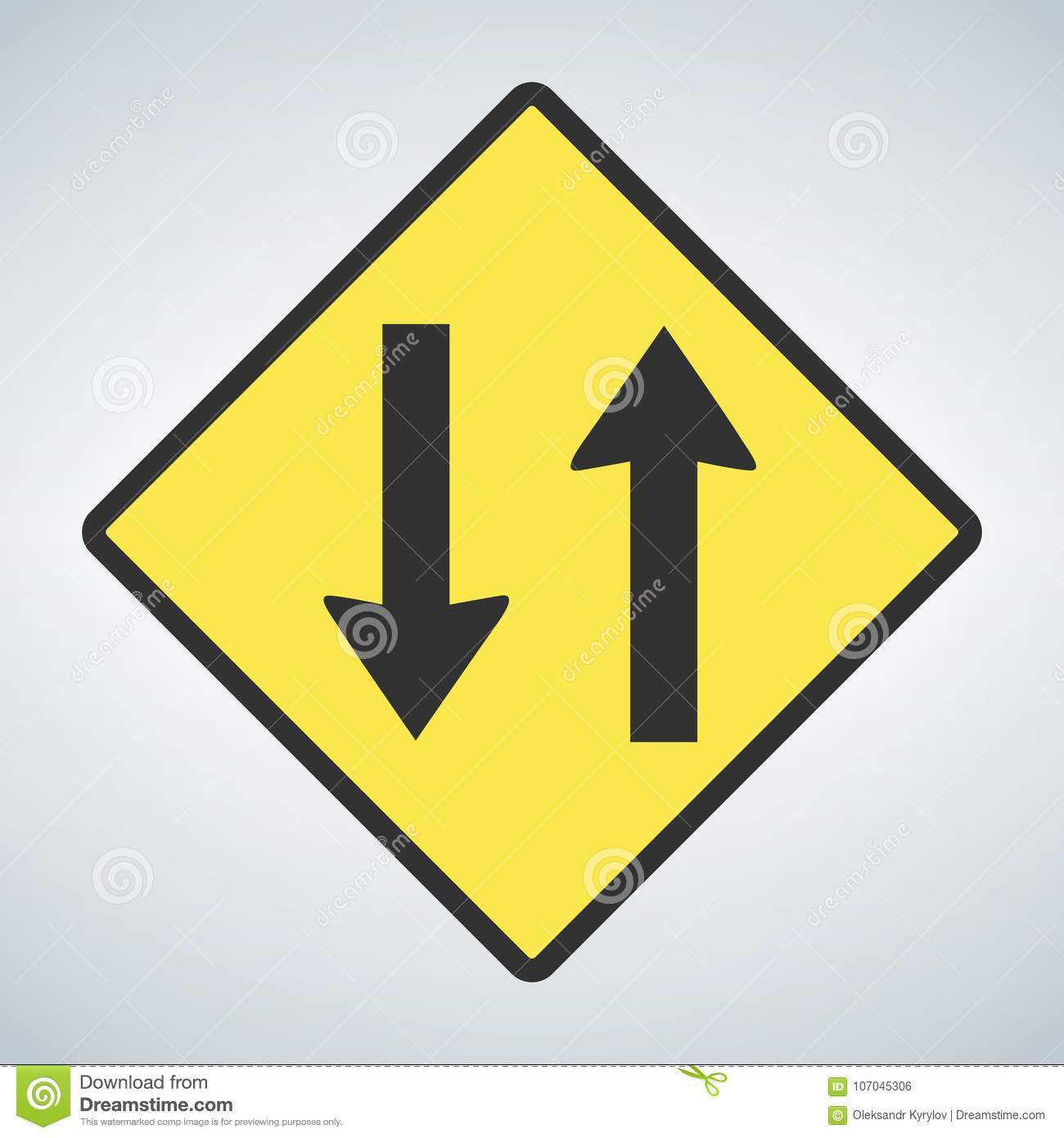 Best Two Way Traffic Sign Stock Photos, Pictures & Royalty ... |Two Way Traffic Ahead Sign