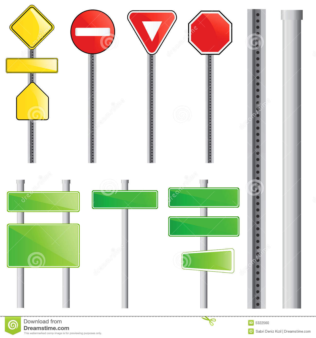 Traffic Sign Vector Stock Photo - Image: 5322560
