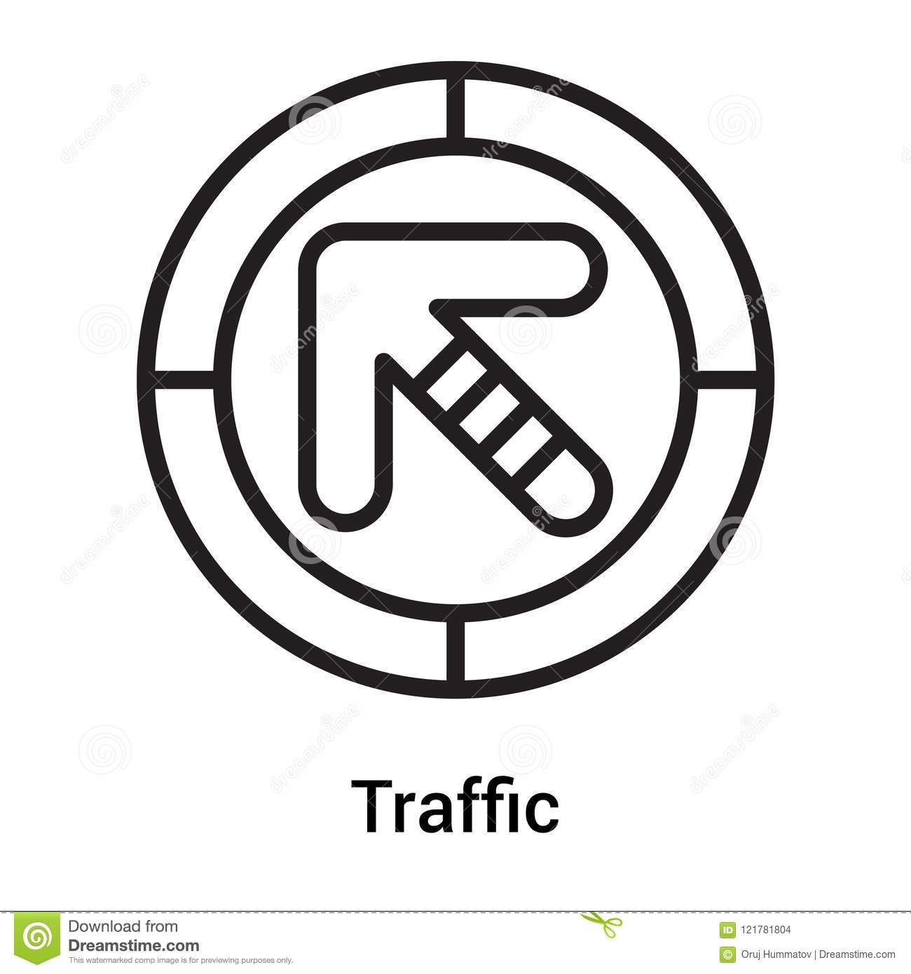Traffic Signal Icon Vector Sign And Symbol Isolated On White
