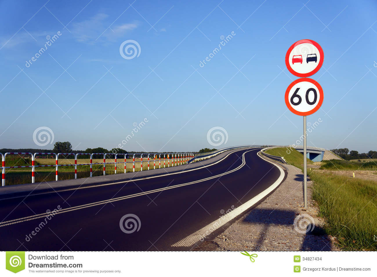 Traffic Signs Along The Road Stock Images - Image: 34827434