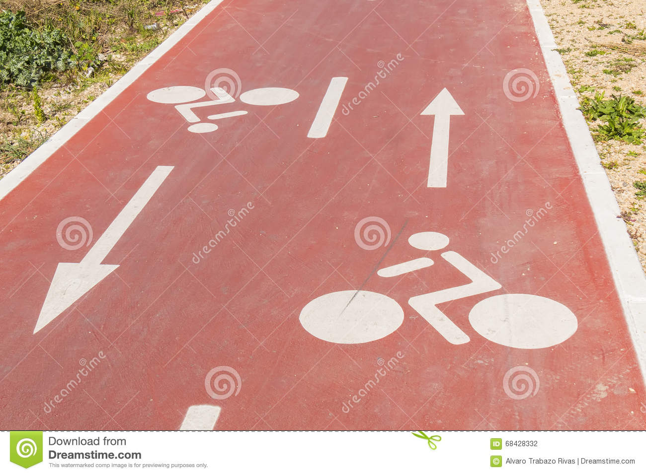 Traffic signs drawn in the Cycleway