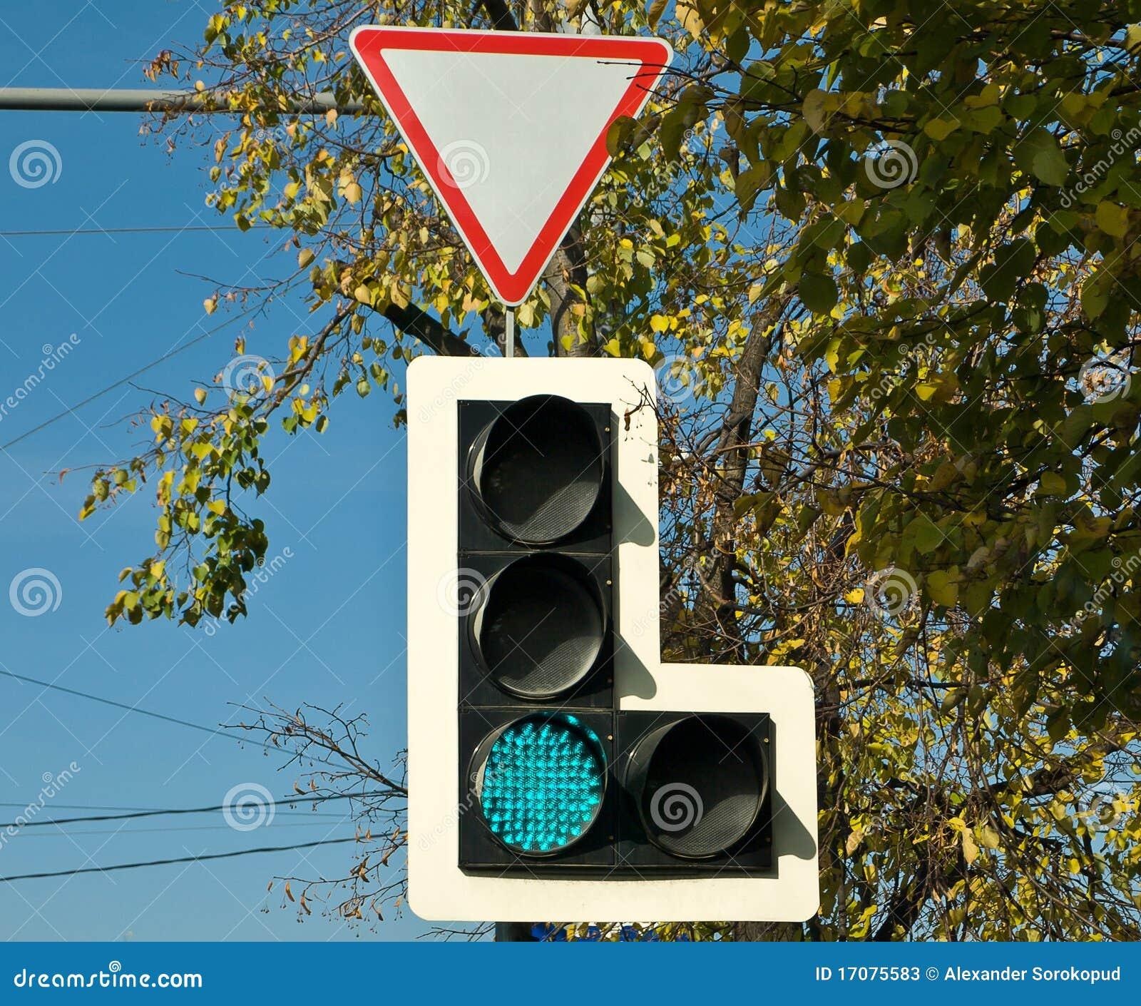 Trafficlight en una ciudad