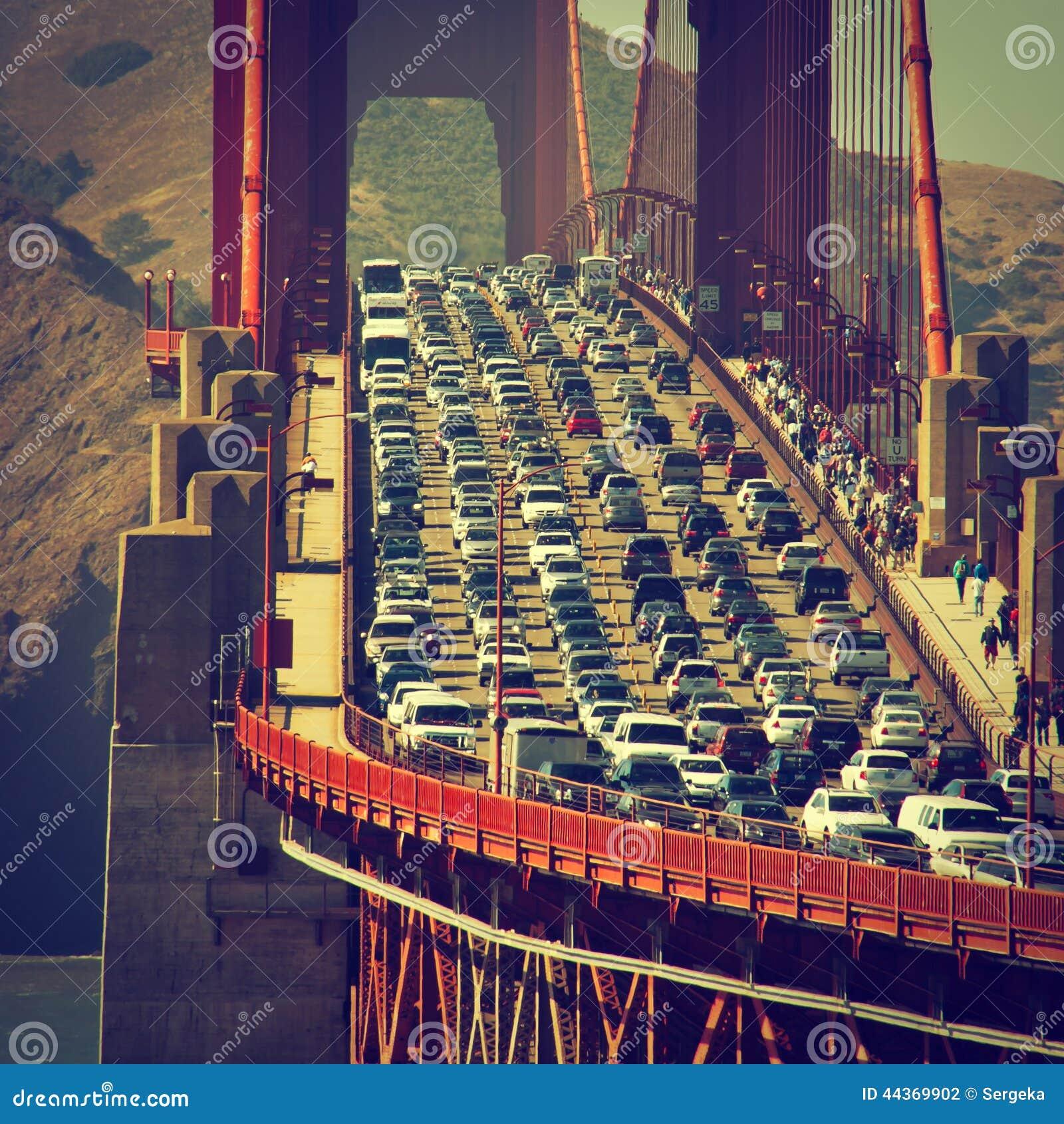 Traffico di sera a San Francisco