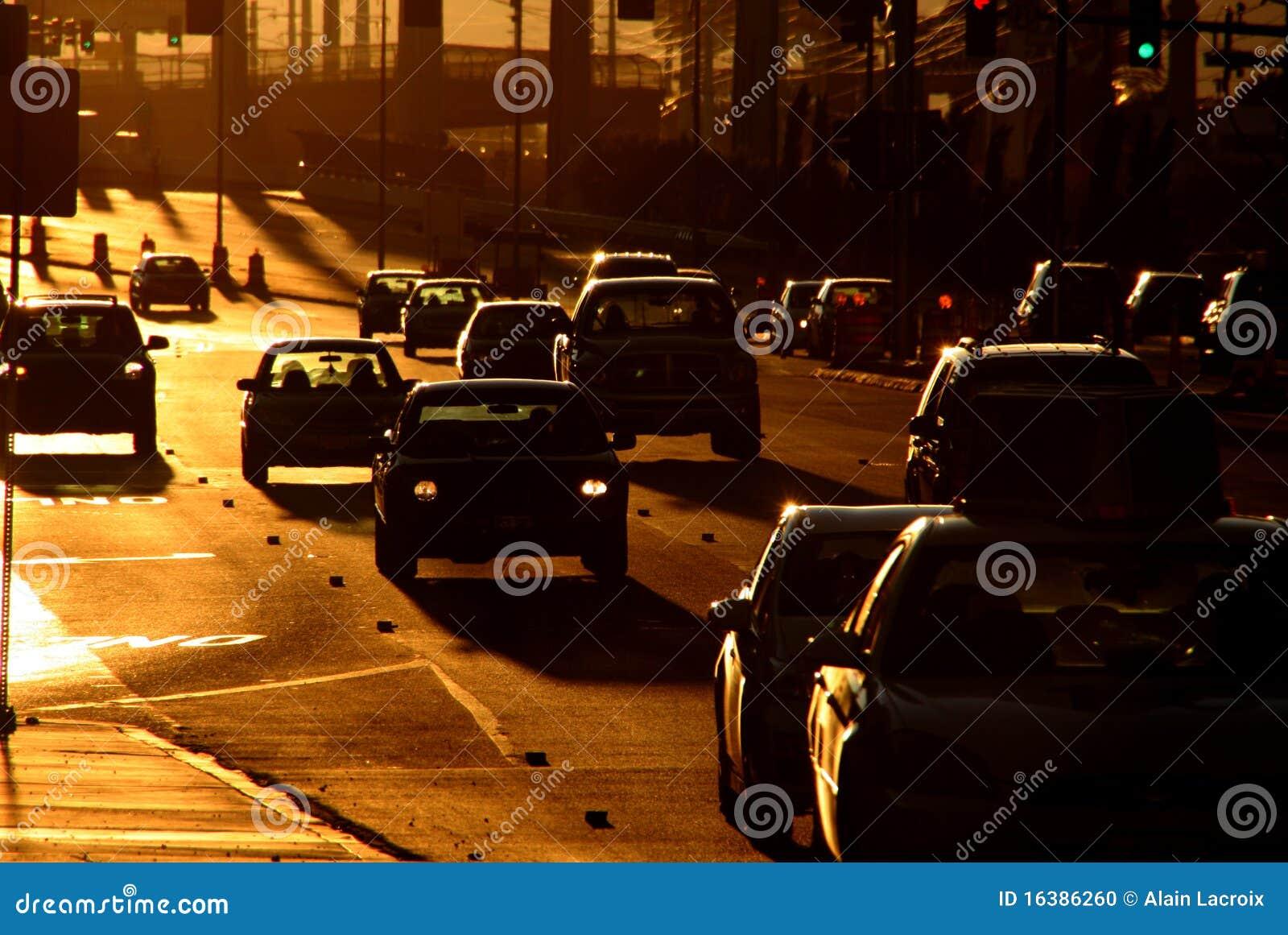 Traffico di tramonto