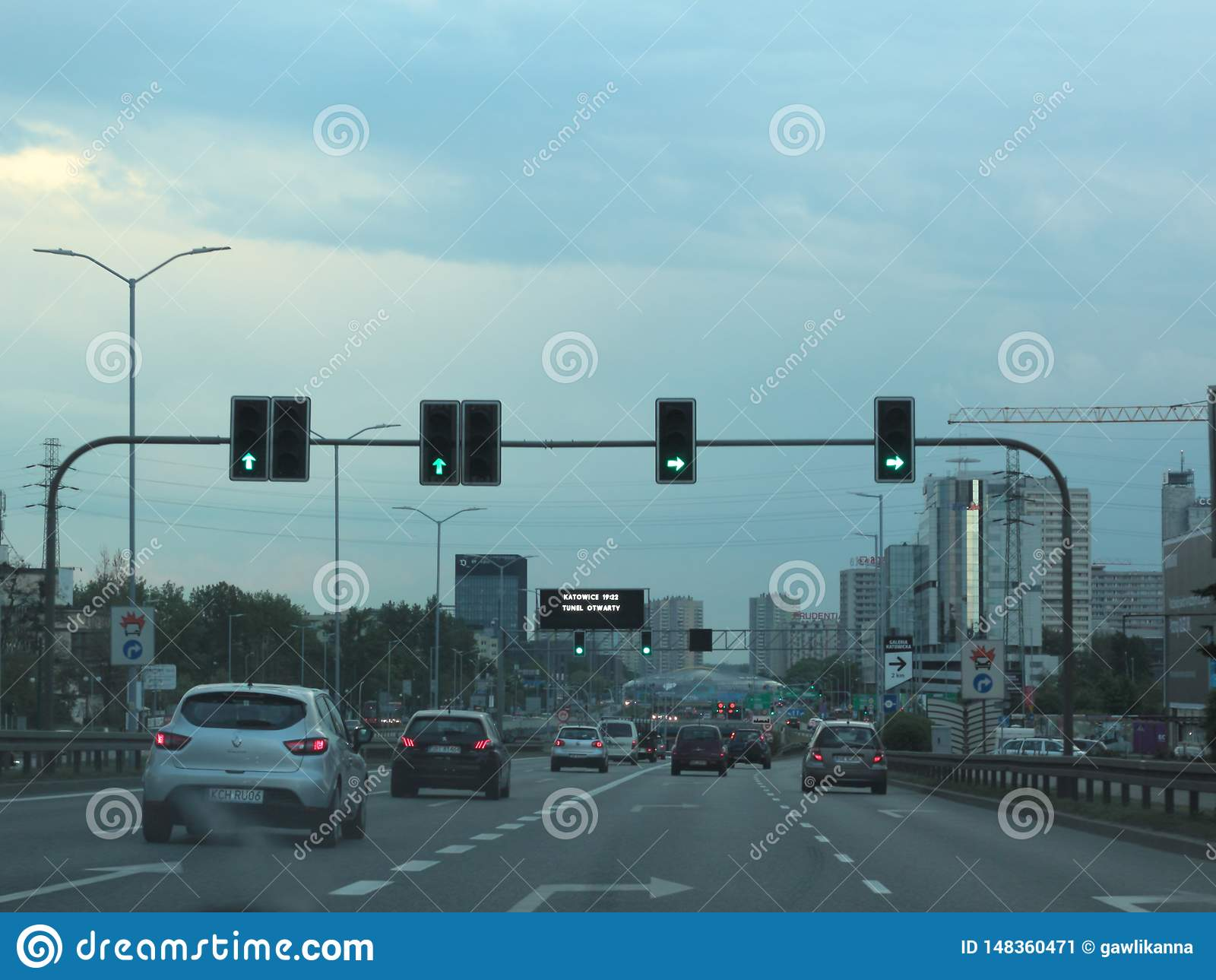 Traffico in Katowice, Polonia