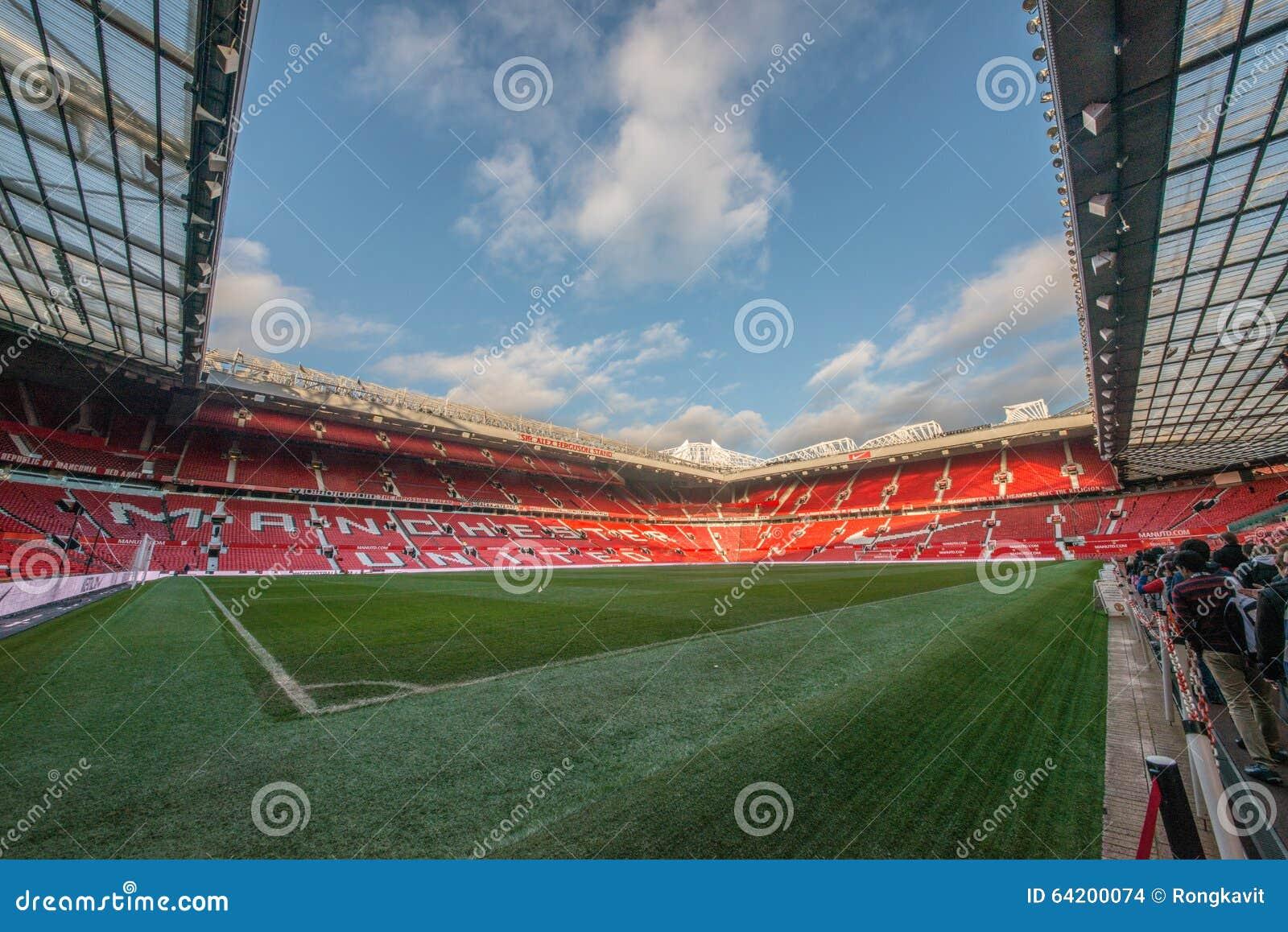 Trafford viejo es hogar del club del fútbol del Manchester United