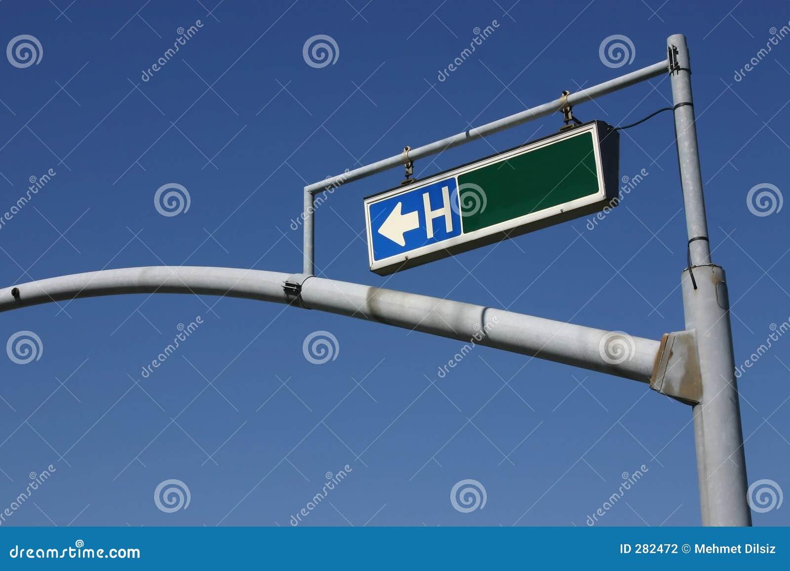 Trafik för tecken för ljus pol för sjukhus